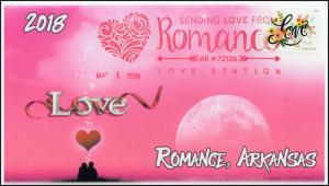 18-033, 2018, Valentines Day,  Pictorial Postmark, Event Cove, Romance AR