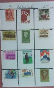 12 Stamps from Netherlands for $1.00 (Sell or trade)(NET-03)