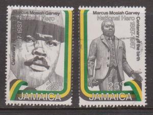 JAMAICA Scott # 669-70 Used - Marcus Garvey