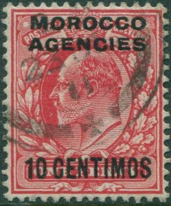 Morocco Agencies 1907 SG113 10c on 1d red KEVII FU