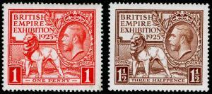 SG432-433, 1925 PAIR, VLH MINT. Cat £55.