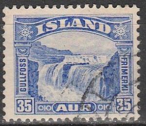 Iceland #172 F-VF Used CV $16.00 (B10060)