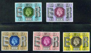 Great Britain Scott 810-814 MNH** 25th Anniv of QE2 Reign