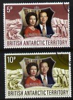 British Antarctic Territory 1972 Royal Silver Wedding set...