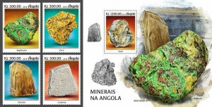Z08 IMPERF ANG190201ab Angola 2019 Minerals MNH ** Postfrisch