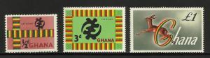 Ghana 1961 Scott# 95-97 MNH