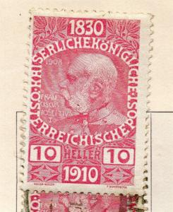 Austria 1910 Early Issue Fine Mint Hinged 10h. 240501