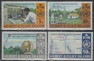Gilbert and Ellice Islands  218-21  MNH  WMO 100th Anniversary