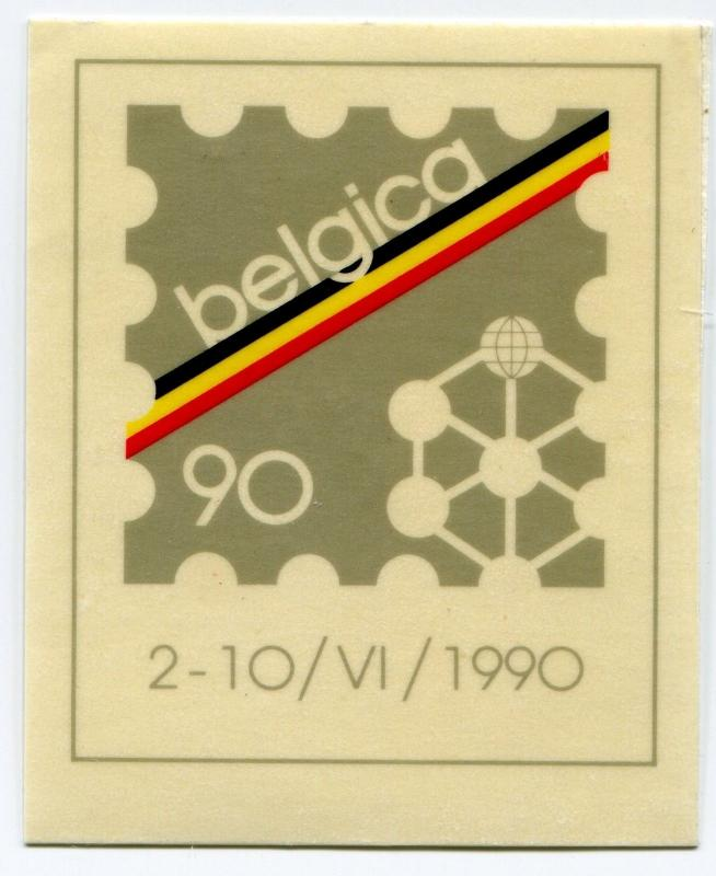 BELGICA 90 1990 World Philatelic Exhibit Poster Stamp Belgium Expo Exhibition