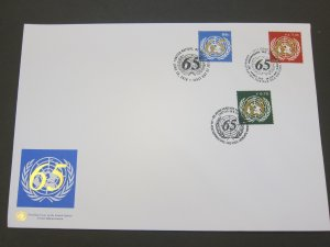 United Nations (NY,Vienna,Geneva) 2010 Sc 474,522,1010 FDC
