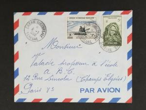 1958 Dakar Senegal French West Africa to Paris France Air Mail Cover