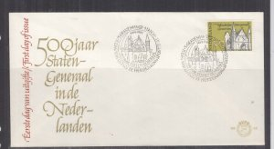 NETHERLANDS, 1964 First States General meeting 12c. on First Day cover.