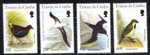 Tristan Da Cunha Sc# 584-587 MNH 1996 Gough Island Birds