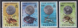 Tuvalu # 19-22, New Coinage, NH, 1/2 Cat.