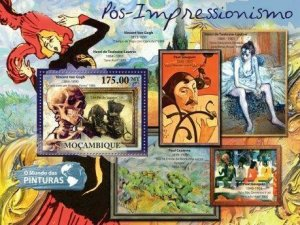 Mozambique - Post-Impressionism Art  Stamp S/S 13A-690
