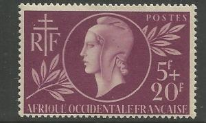 FR. EQUATORIAL AFRICA  B38  MINT HINGED,  CD,  SURTAX FOR FRENCH RED CROSS