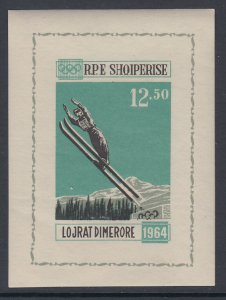 Albania 709A Winter Olympics Footnoted Souvenir Sheet MNH VF