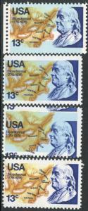 #1690,1690a,1690 VAR X2 FRANKLIN COLOR SHIFTS ERROR LOT - (1690a HR)  BP0476