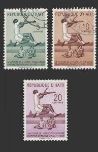 HAITI 1958  STAMP SCOTT # 421 - 23. USED. # 1