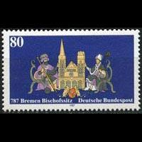 GERMANY 1987 - Scott# 1513 Bremen Cathedral Set of 1 NH
