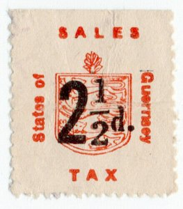 (I.B) Guernsey Revenue : Sales Tax 2½d (German Occupation)