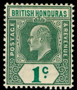 BRITISH HONDURAS SG84, 1c grey-green & green, VLH MINT. Cat £19.