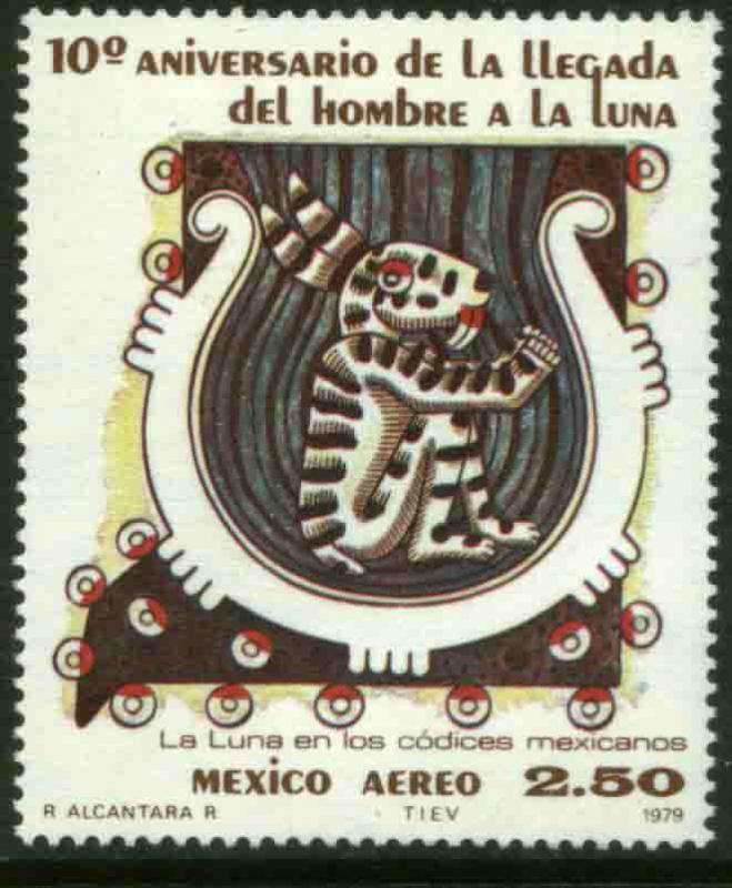 MEXICO C624, 10th Anniv of the Landing in the Moon. MINT, NH. VF.