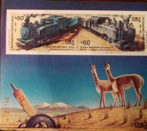 O) 1988 CHILE, HERITAGE RAILWAY, TRAIN - STEAM TRAIN - LOCOMOTIVE 1913 ARICA LA