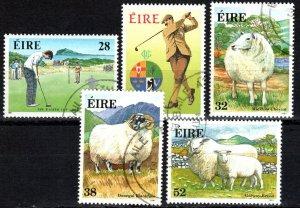 Ireland #839-43   F-VF Used  CV $7.60 (X5540)