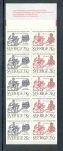 Sweden Sc 1539a 1985 Saint Cnut stamp bklt pane mint NH
