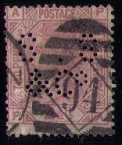 Great Britain Sc 66 PL2 PERFIN S.S & Co.