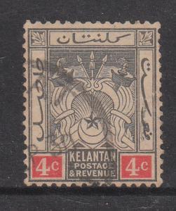 Malaya Kelantan 1921 Sc 19 4c Used