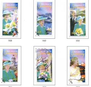 Guernsey Sc 769-74 2002 Golden Jubilee QE II stamp set used