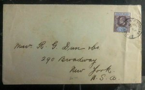 1906 St Johns Antigua Leeward Island Cover To New York USA