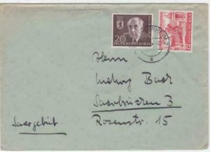 Germany Berlin 1954 Manheim stamps cover   r19851