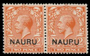 Nauru Scott 4 Variety Gibbons 4a Mint Stamp