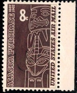 Tlingit Totem, Southern Alaska, Alaska Purchase Issue, USA SC#C70 used
