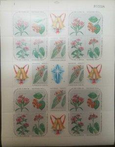 O) 1969 CUBA- CARIBBEAN, SPANISH ANTILLES, CHRISTMAS, FLOWERING PLANTS
