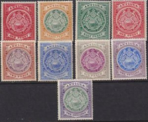 Antigua 1908-1920 SC 31-38 Mint Set