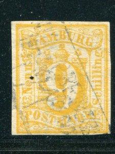 Hamburg #7  used  signed Cat $2000