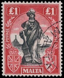 Malta Scott 98-114 Gibbons 123-139 Used Set of Stamps