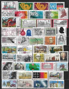COLLECTION LOT OF 45 GERMANY 1973+ STAMPS