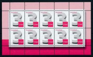 [98238] West Germany Bundespost 2012 3 Cent Sheet MNH