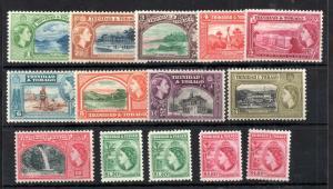 Trinidad & Tobago 1953 QEII mint LHM set + Perfs SG267-278A WS14091
