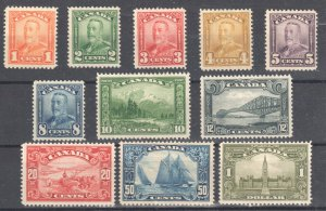 Canada #149 to 159 Mint Fine to XF LH-H Complete Set C$1,360.00