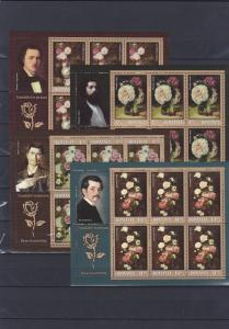 Romania 2013 STAMPS Roses paintings Luchian Grigorescu Aman sheets MNH
