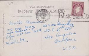 Ireland 1 1/2d Map 1946 Baile Atha Cliath, C PPC to Los Angeles, Calif. Creas...