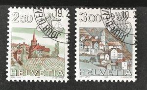 Switzerland 1982-86 #726-27, Used, CV $2.05