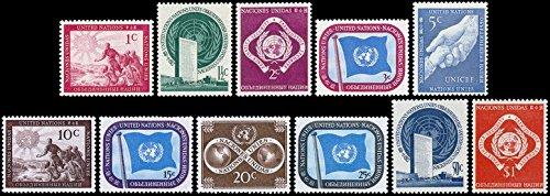 United Nations Stamps #1-11 MNH