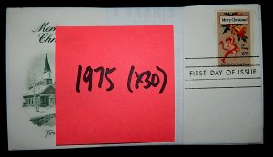 FDCs - 1975 COMMEM YEAR SET - x30 - see photo